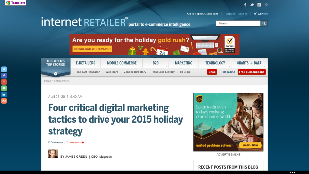 Ecommerce Holiday 2015 Planning Tips
