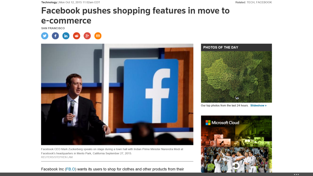 Facebook Testing New Ecommerce Features