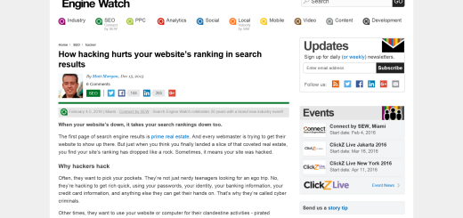 "Why We Love ""How hacking hurts your website's ranking in search results"": Article Review"