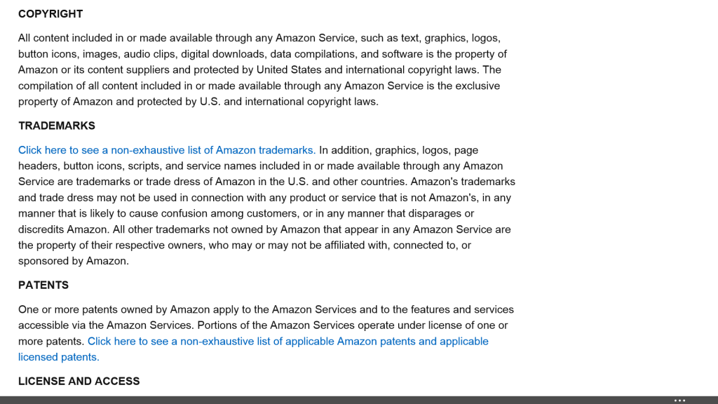 Amazon Conditions of Use